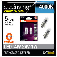 OSRAM 24V LED 6000K blanc chaud T4W (249) ampoules led 12v 1w longue vie 3924ww-02b
