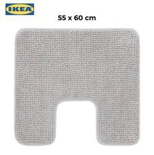 IKEA TOFTBO Anti-Slip Microfibre Pedestal Mat Bathroom Toilet Rug 55x60cm Grey