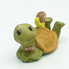 Vintage Turtle with Snail on Shell Porcelain Figure