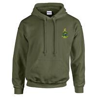 Royal Marines Embroidered Hoodie - Hooded Sweatshirt - Military Green