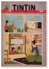TINTIN 1951 n° 26 couverture HERGE  Quick Flupke