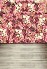 Pink Rose Flowers Wall Photography Backgrounds 3x5ft Vinyl Photo Backdrops Props