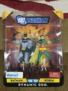 DC Universe Classics 2 Pack Dynamic Duo Batman and Robin NIB Mattel Wal Mart
