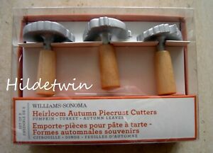 WILLIAMS SONOMA HEIRLOOM AUTUMN PIECRUST CUTTERS PUMPKIN TURKEY THANKSGIVING NIB