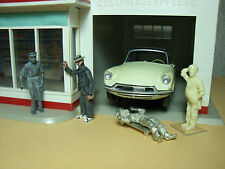 4  FIGURINES 1/43   SET 199  AU GARAGE  ESSO  VROOM  NON PEINT  FOR  NOREV