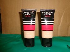 Lot of 2 Covergirl Outlast Active 825 Buff Beige 24HR SPF20 Foundation 1OZ NOS