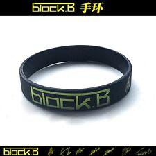 Kpop Block B Bracelet Zico JAEHYO PARK KYUNG Black Silicone Wristbands New