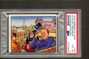 1938 Horrors Of War Card # 163 - 1938 Gum, Inc. - PSA 4