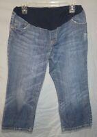 Liz Lange Maternity for Target Women's Capri Jeans Size 6 Front & Back Pockets