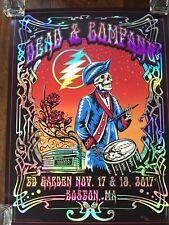 Dead & Company Poster Td Garden Boston, Ma 11/17 & 11/19 2017 Rainbow Foil