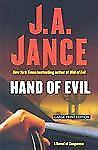 HB: Hand of Evil  by J. A. Jance, Large print edition