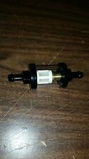 """BLACK CLEAR GLASS FUEL FILTER FOR 1/4"""" LINE"""