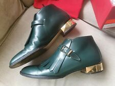 Valentino ROCKSTUD Scarpe flecos verde botas talla 36 Reino Unido 3