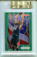 ANTHONY DAVIS 2012-13 Panini Prizm USA Green Holo Rookie Card RC SP BGS 9.5 10