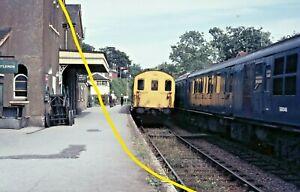 DEMU 1122 SOUTHERN REGION Alresford station 5.7.69 ORIGINAL Railway Slide GD182