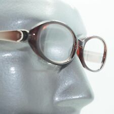 Fun Reading Glasses See Thru Coffee Brown Jelly Whimsy Oval Frame +3.00 Lens