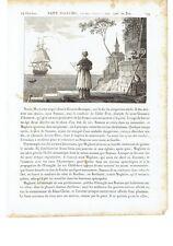 """1825 """"Saint Magloire Abbe de Dol"""" San Maglorio Sant Maelor (Glamorgan-Sercq)"""