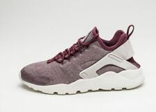 NIKE AIR HUARACHE RUN ULTRA SE TRAINERS, Night Maroon/Lt Iron Ore U.K SIZE 8.5
