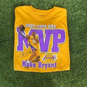 NWT Deadstock Vintage RARE Kobe Bryant 2008 MVP LA Lakers Mens T Shirt rap Large