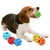 Dog Treat Ball Toy Teeth Cleaning Large Medium Dogs Chew Holds Treats Interactiv