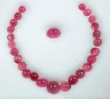 Pink Rubellite Tourmaline Cabochons from Myanmar (Burma) - 26 stones, 25.4 tcw