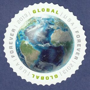 EARTH GLOBAL FOREVER STAMP 2013 US AIR MAIL 1st in Series INTERNATIONAL POSTAGE