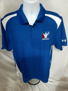 iRacing Large Employee Issued Under Armour Polo Shirt NASCAR IndyCar Sim Racing