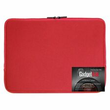 Red 15 15.6 inch Neoprene Laptop Sleeve Bag Carrying Case Water Resistant NEW