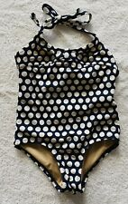 New Crewcuts J. Crew Polka Dot Halter Swimsuit With Bows Size 2 Years