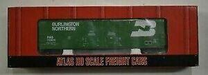 Atlas 1751-2 HO Scale Burlington Northern Double Plug Door Boxcar #750018 LN/Box
