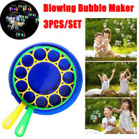Bubble Blow Maker Wand Tool Children Family Toys Gifts Game Funny Garden Outdoor