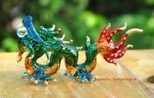 Handmade Lucky Dragon Art Glass Blown Fantasy Animal Figurine