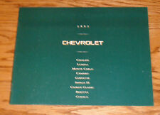 Original 1995 Chevrolet Full Line Sales Brochure 95 Chevy Camaro Corvette Impala