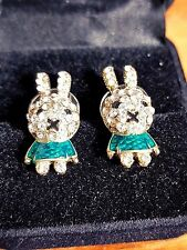 rabbits funny face SILVER SUDS EARRINGS