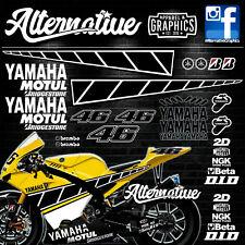 Laguna Seca Speedblock Sticker Decals for Kenny Robert Yamaha YZF R1 R6 R3 125