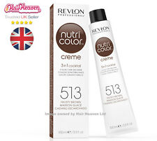 Revlon Professional Nutri Color Creme 513 Frosty Brown 100ml TUBE 3 in 1 Colour