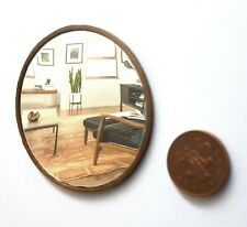 Dolls House 1/12 scale  Large Round Gold Wall Mirror Lovingly Made by BUSHBABY