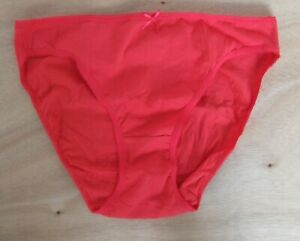 EX Chainstore size 10 cotton rich high Leg knickers panties briefs Red