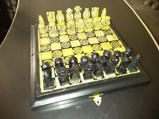 """*RARE* HAND CARVED COMPOSITE 9.5"""" CHINESE CHESS BOARD GAME HANDMADE! GREAT GIFT!"""