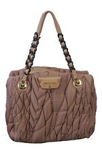 PATRIZIA PEPE Pink Quilted Chain Handle Shoulder Bag (M)