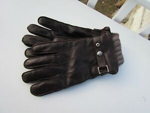 NEW XL COACH mens leather gloves $188 sheepskin 3 In 1 cashmere F83853 handsome