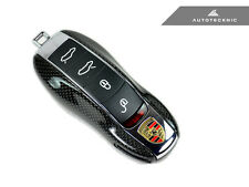 REPLACEMENT CARBON FIBER KEY COVER - PORSCHE 92A 970 981 911 991 918 MACAN USA