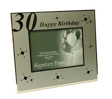 30th Birthday Gift Present Sign it Silver 4 x 6 in  Photo Frame and Pen