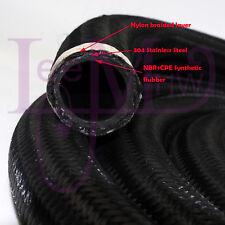 AN16 AN -16 16AN NYLON STEEL BRAIDED OIL FUEL GAS Radiator LINE HOSE 1FOOT Black