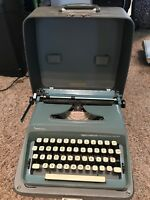 1960s Sperry Rand Remington Personal Riter BLUE Typewriter Case Manual Works VG