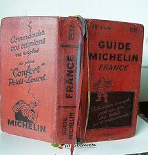 GUIDE MICHELIN 1932 28éme ANNEE - FRANCE 1052 Pg + 24 Plans Villes >SUPER ETAT .