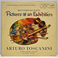 "ARTURO TOSCANINI   ""Pictures At An Exhibition""   1954  Vinyl LP   RCA LM1838"