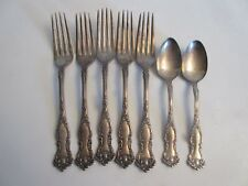 Wm Rogers & Son AA Oxford Silver Plate Fork & Spoon Lot 1901