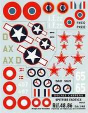 COLORADO DECALS 1/48 International Supermarine Spitfire Part 5 #