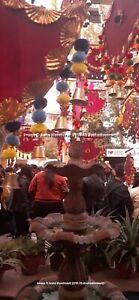 Indien Handmade Mariage Décorative Suspendu Pankhi Ventilateur 5pc Lot